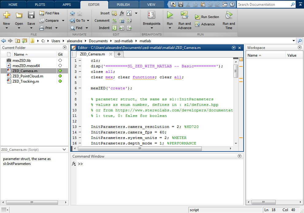 Matlab - Getting Started with Matlab | Stereolabs