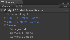 Unity - Multiple Cameras | Stereolabs