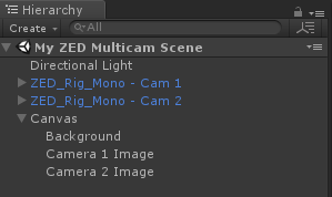 Unity - Multiple Cameras   Stereolabs